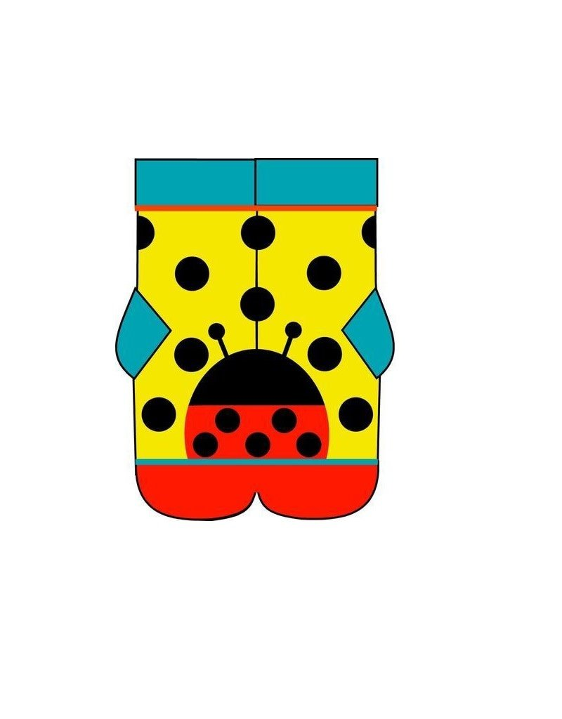 DUNS Sweden DUNS Sweden - kous, ladybug yellow (0-2j)