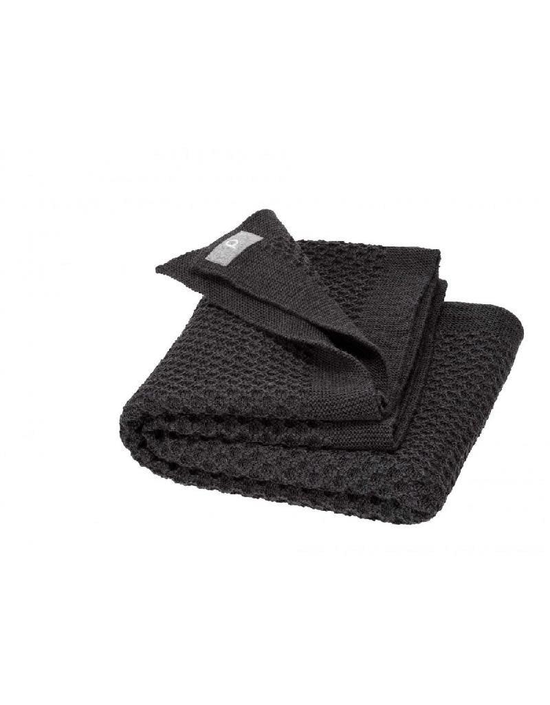 Disana Disana - Honeycomb blanket, 80x100cm, anthracite