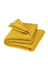 Disana Disana - Honeycomb blanket, 80x100cm, curry