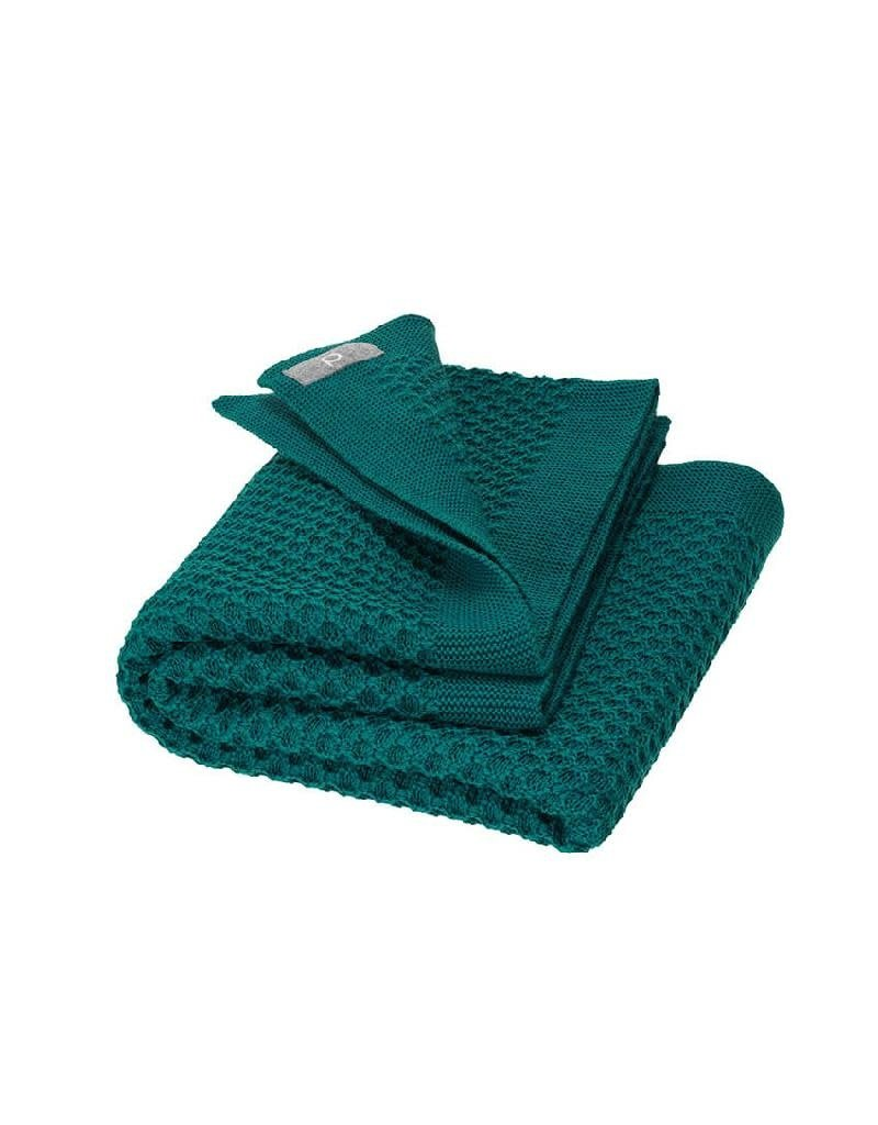 Disana Disana - Honeycomb blanket, 80x100cm, pacific
