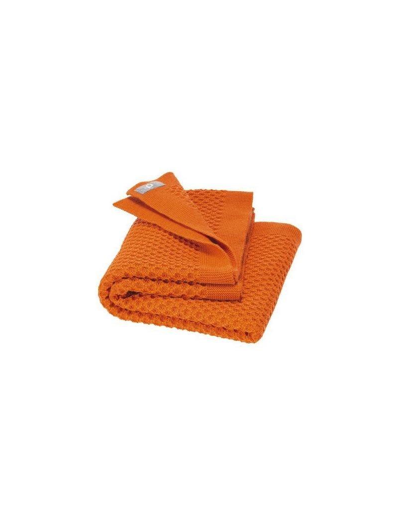 Disana Disana - Honeycomb blanket, 80x100cm, orange