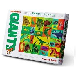 Crocodile Creek Familie puzzel, prehistoric giants