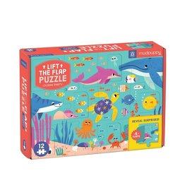 Mudpuppy Puzzel met flapjes, ocean party