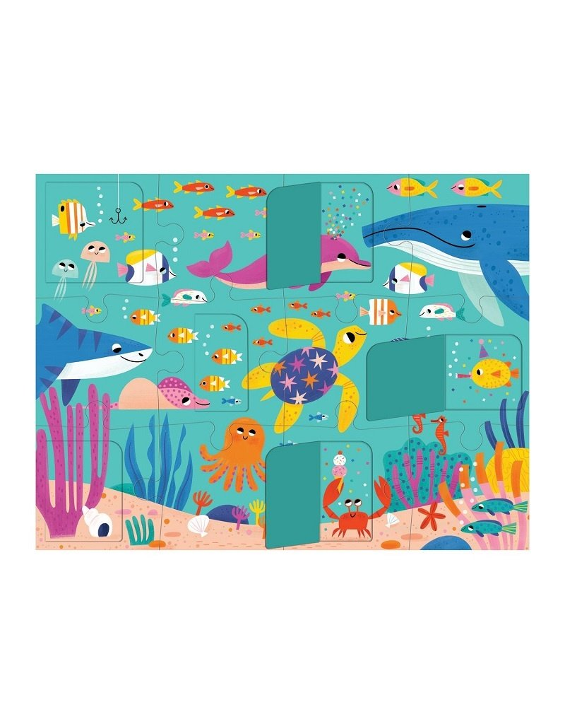 Mudpuppy Mudpuppy - Lift the flap puzzle, ocean party