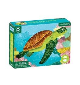 Mudpuppy Mini puzzel, sea turtle