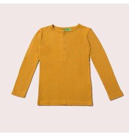 Little Green Radicals Shirt, Golden ochre rib (0-2j)