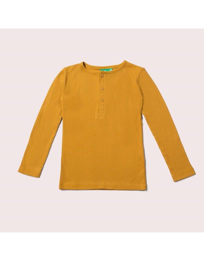 Little Green Radicals Little Green Radicals - Long sleeve T-shirt, Golden ochre rib (0-2j)