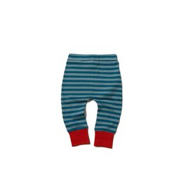 Little Green Radicals Broek, Winter blue stripe (3-16j)