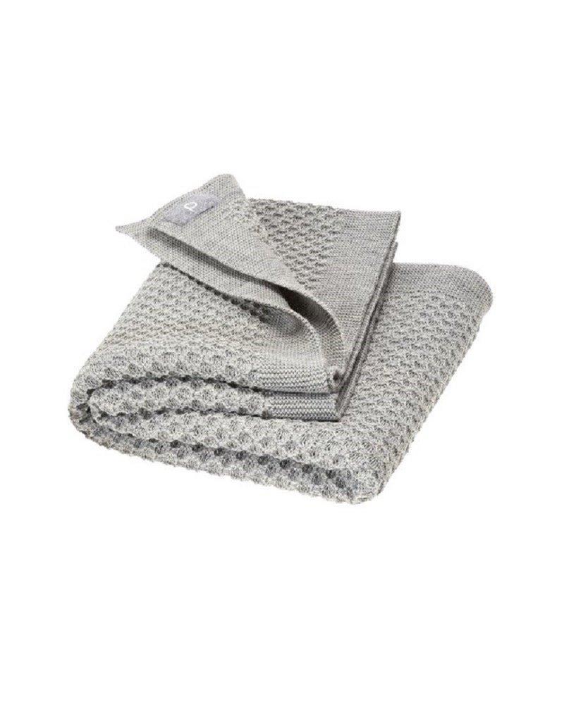 Disana Disana - Honeycomb blanket, 80x100cm, grey