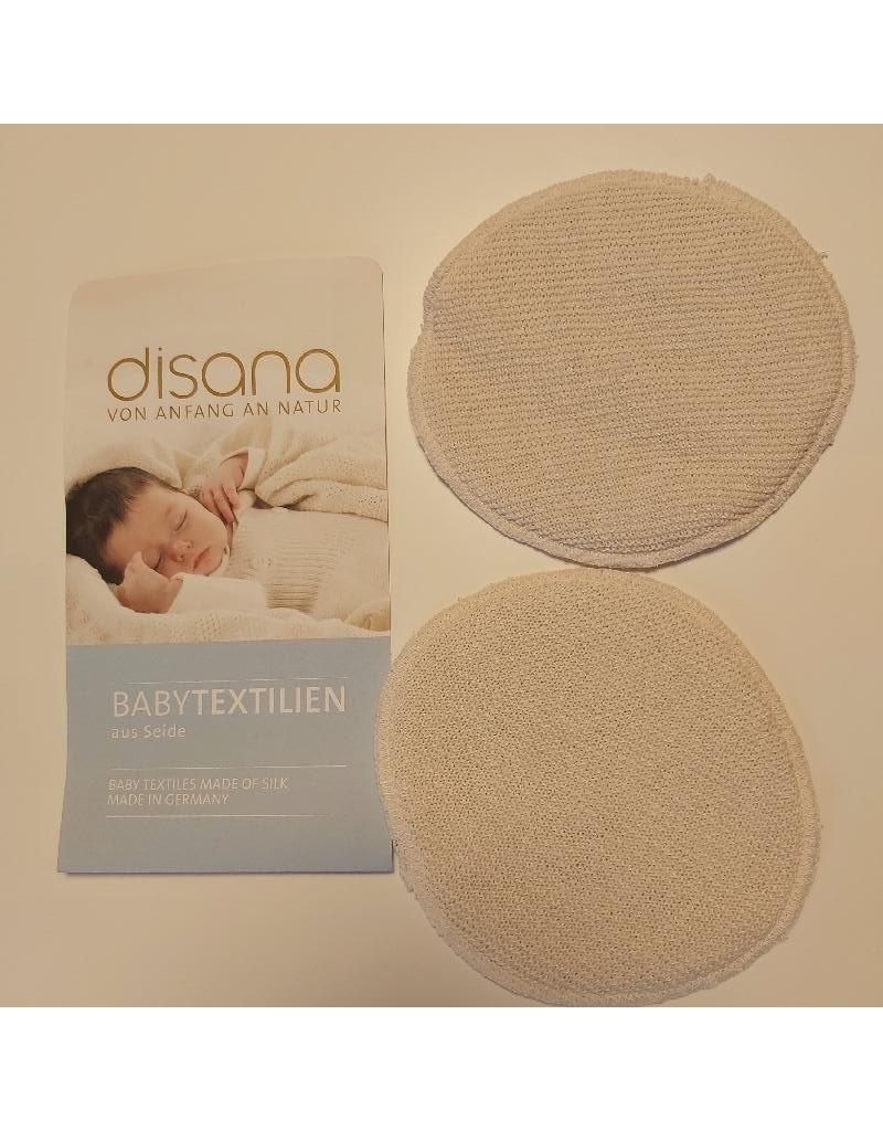 Disana Disana - borstvoedingspads, wol/zijde, 2 stuks, natuur