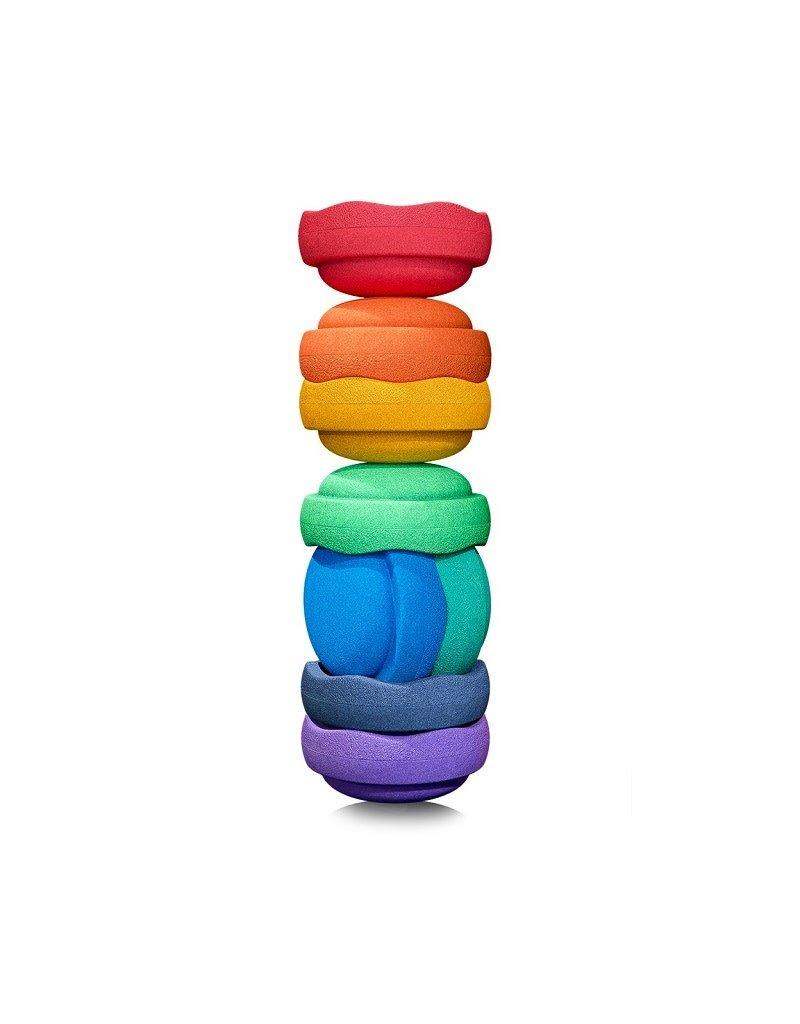 Stapelstein Stapelstein - Rainbow Groot, set van 8
