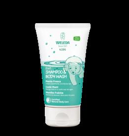 Weleda 2-in-1 shampoo & bodywash, Coole munt