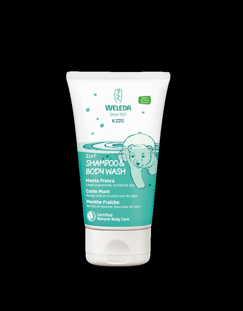 Weleda Weleda kids - 2-in-1 shampoo & bodywash, Coole munt