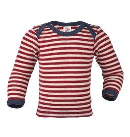 Engel Shirt, red melange/natural (0-2j)