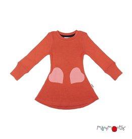 ManyMonths Kleed met hartvormige zakken, rooibos red (0-2j)