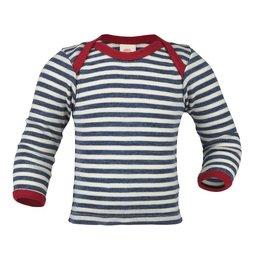 Engel Shirt, blue melange/natural (0-2j)