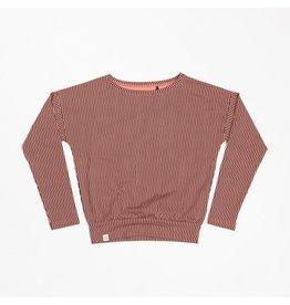 Alba of Denmark Shirt, desert sand split striped (3-16j)
