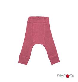 ManyMonths Longies, wol, earth red / stork pink  (0-2j)