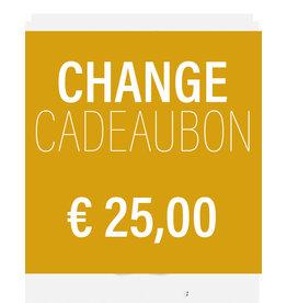 CHANGE CADEAUBON 25,00