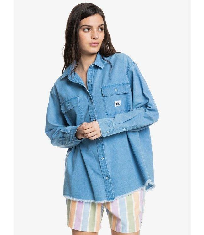 QUIKSILVER X-Boyfriends - Overhemd met Lange Mouw voor Dames