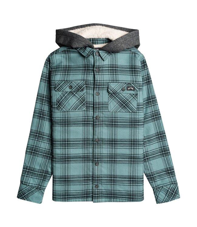 Billabong All Day Sherpa - Flanellen Overhemd met Capuchon voor Jongens