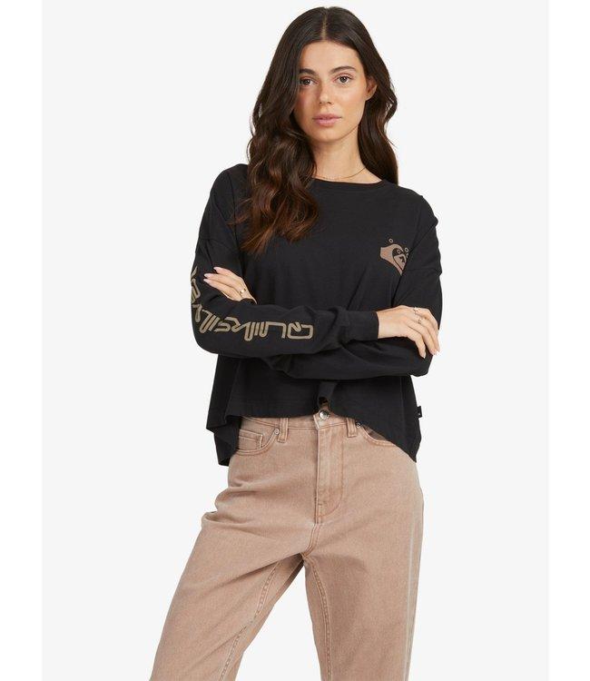 QUIKSILVER Quiksilver Womens Oversized Crop - Biologisch T-shirt met Lange Mouw voor Dames