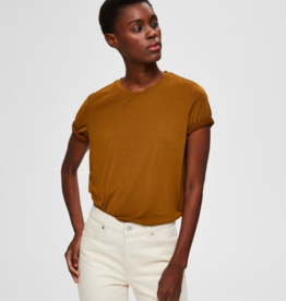 Selected Femme Ella top brown