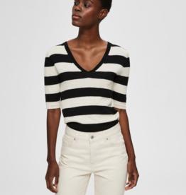 Selected Femme Peyton knit black/white