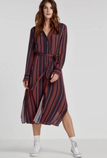 Soaked in Luxury Halima dress red stripe