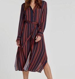 Soaked in Luxury Halima dress red stripe