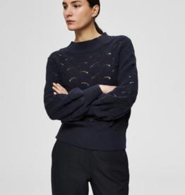 Selected Femme Eva knit blue