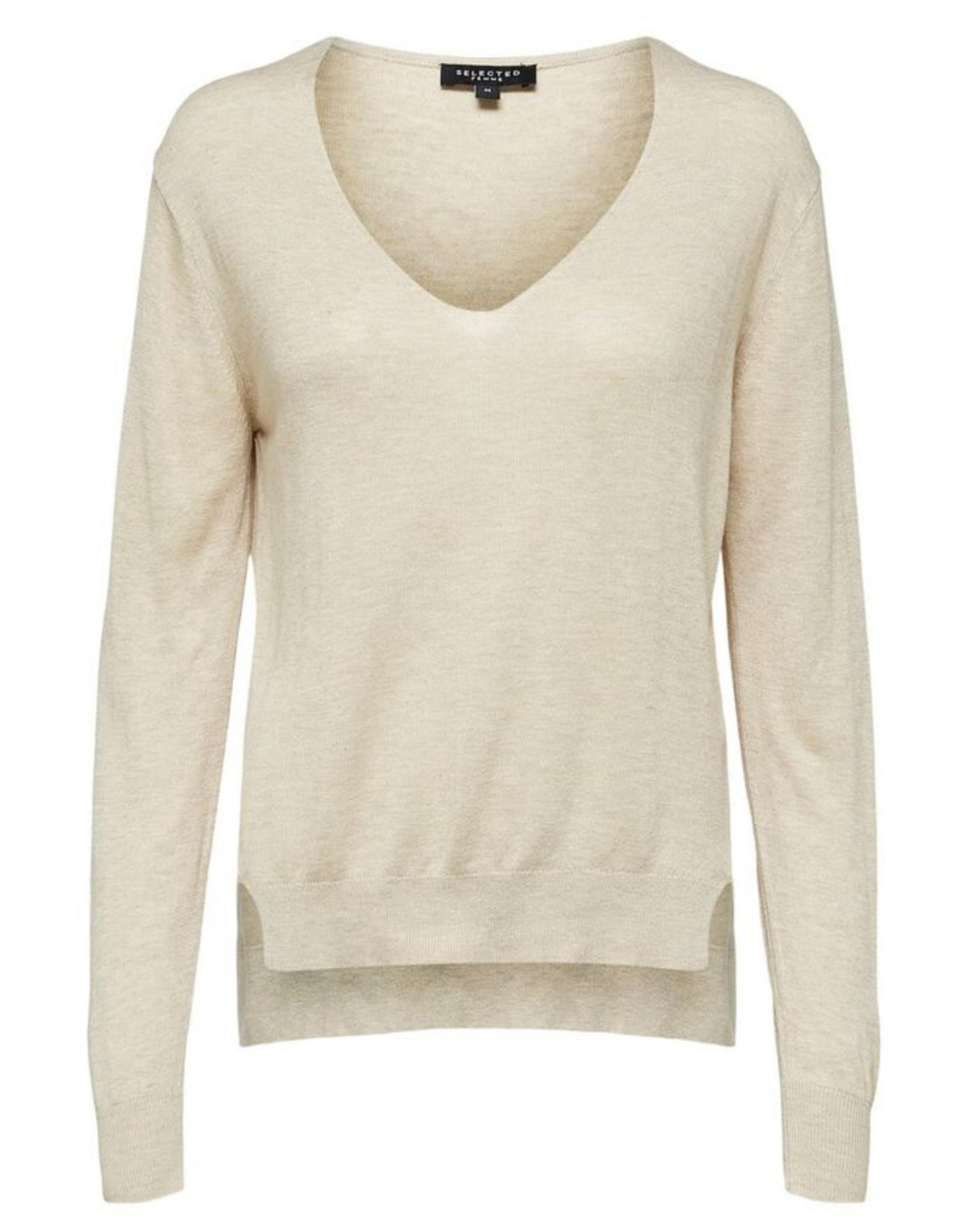 Selected Femme Linel knit beige