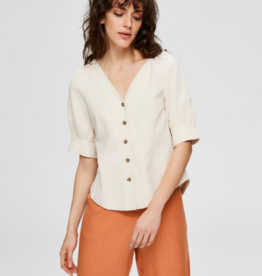 Selected Femme Malvina blouse Beige