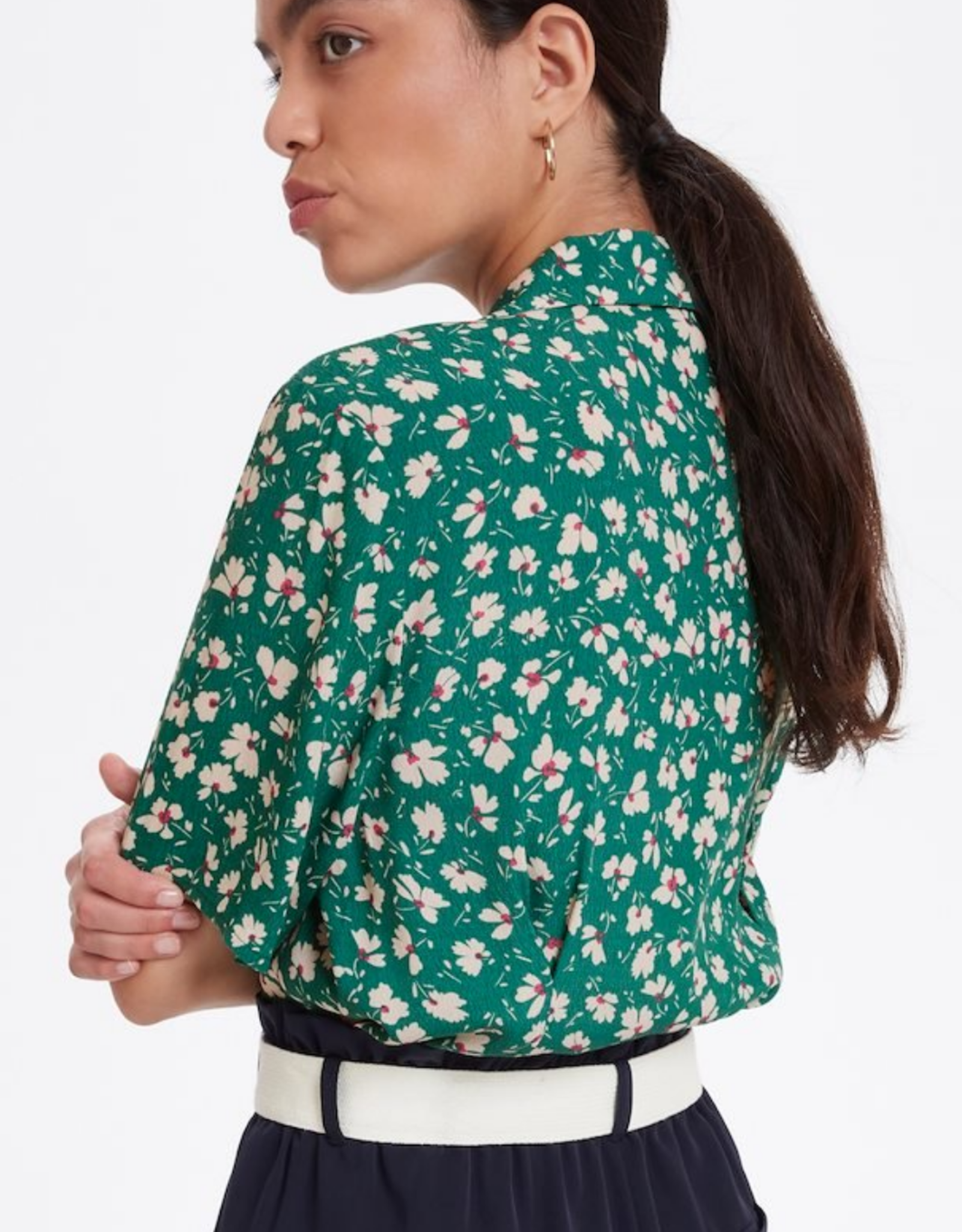 Soaked in Luxury Jacinto Shirt Green