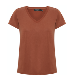 Soaked in Luxury Columbine SS v-neck Mocha