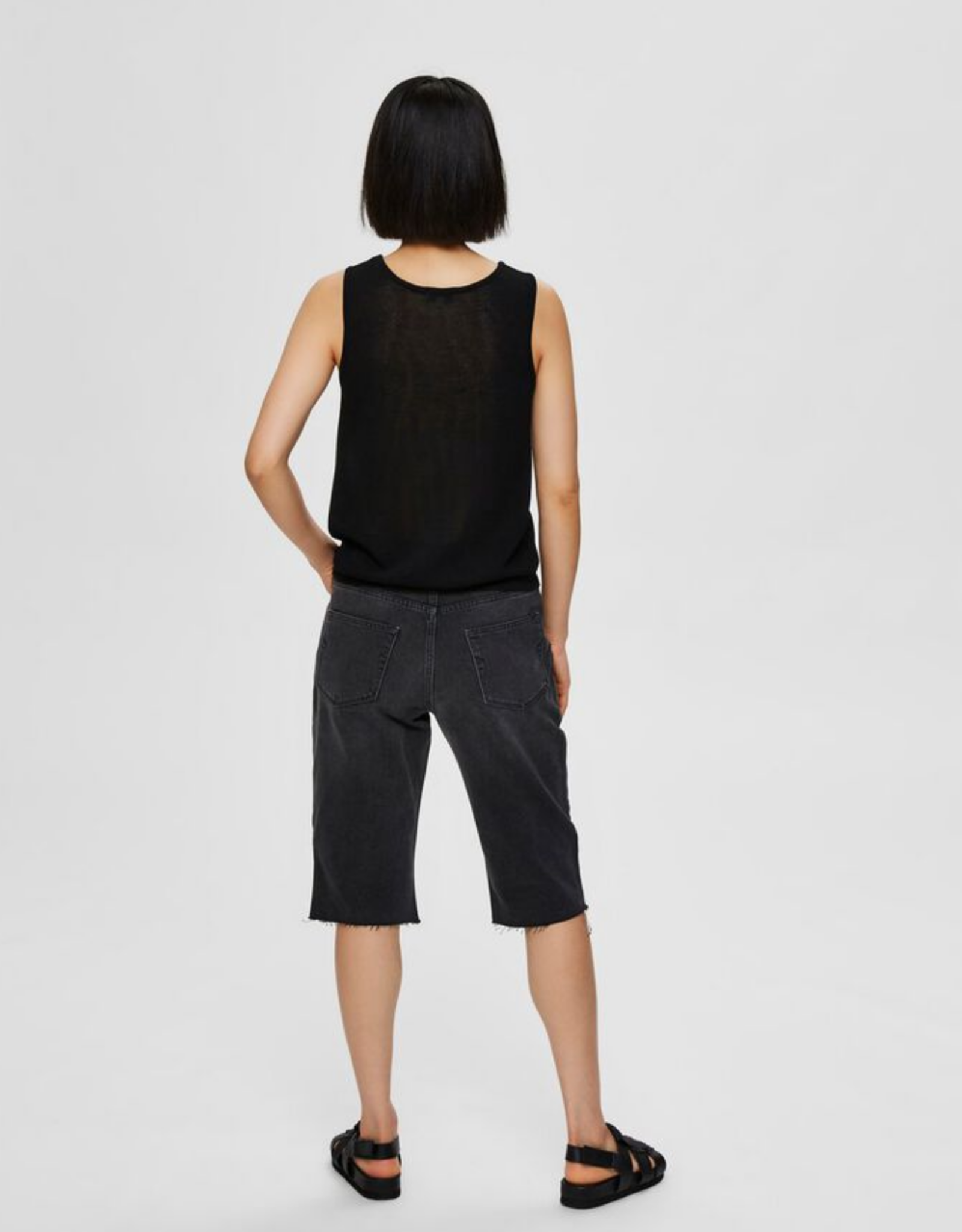 Selected Femme Moon Knit Top black