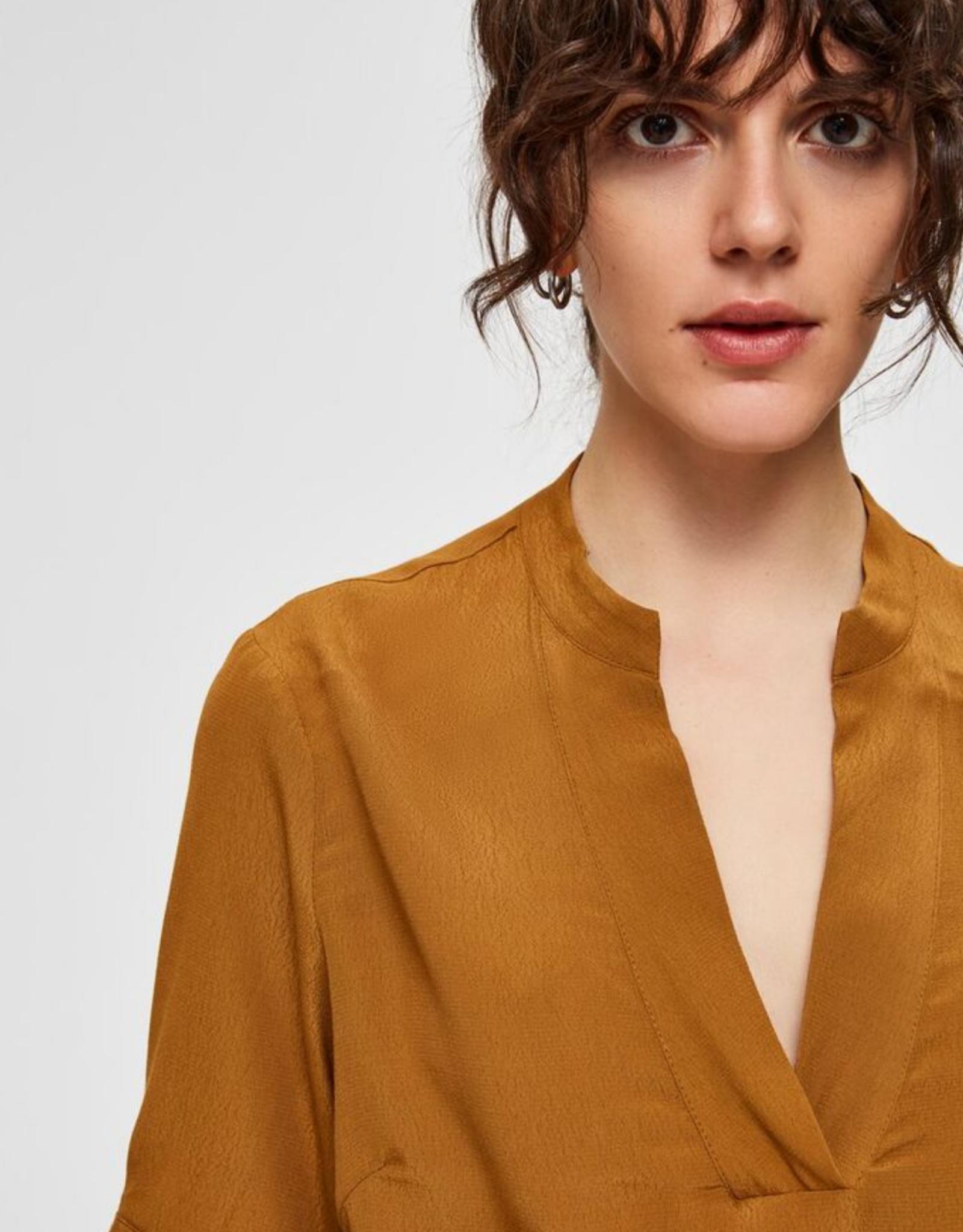 Selected Femme Ella blouse brown