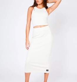 Dr Denim Tabitha Skirt Off White
