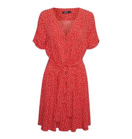 Soaked in Luxury Arjana Dress SS red dots
