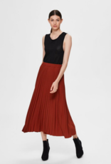 Alexis plisse skirt red