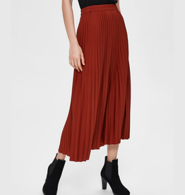 Selected Femme Alexis plisse skirt red