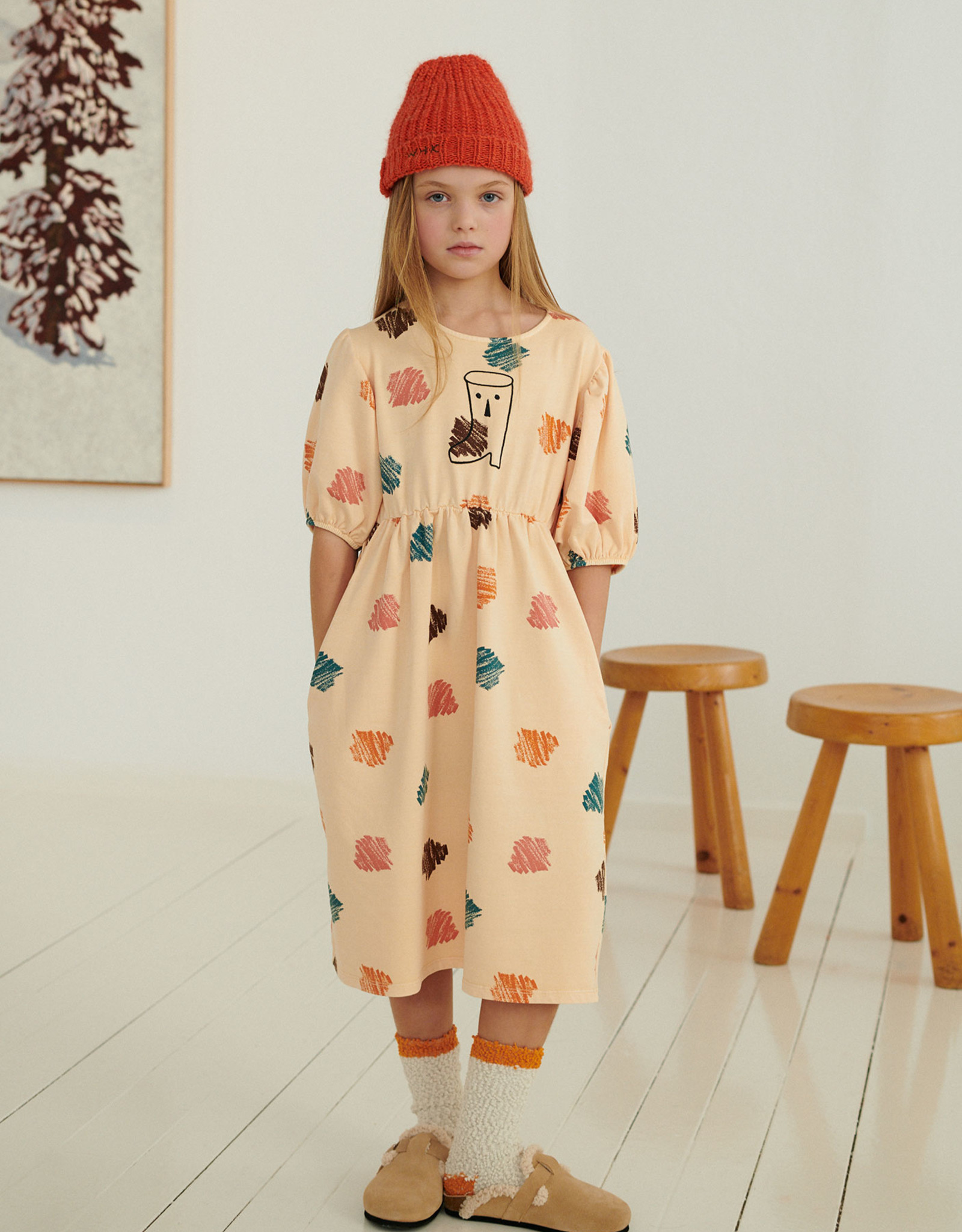 Weekend House Kids Peggy Dress Peach