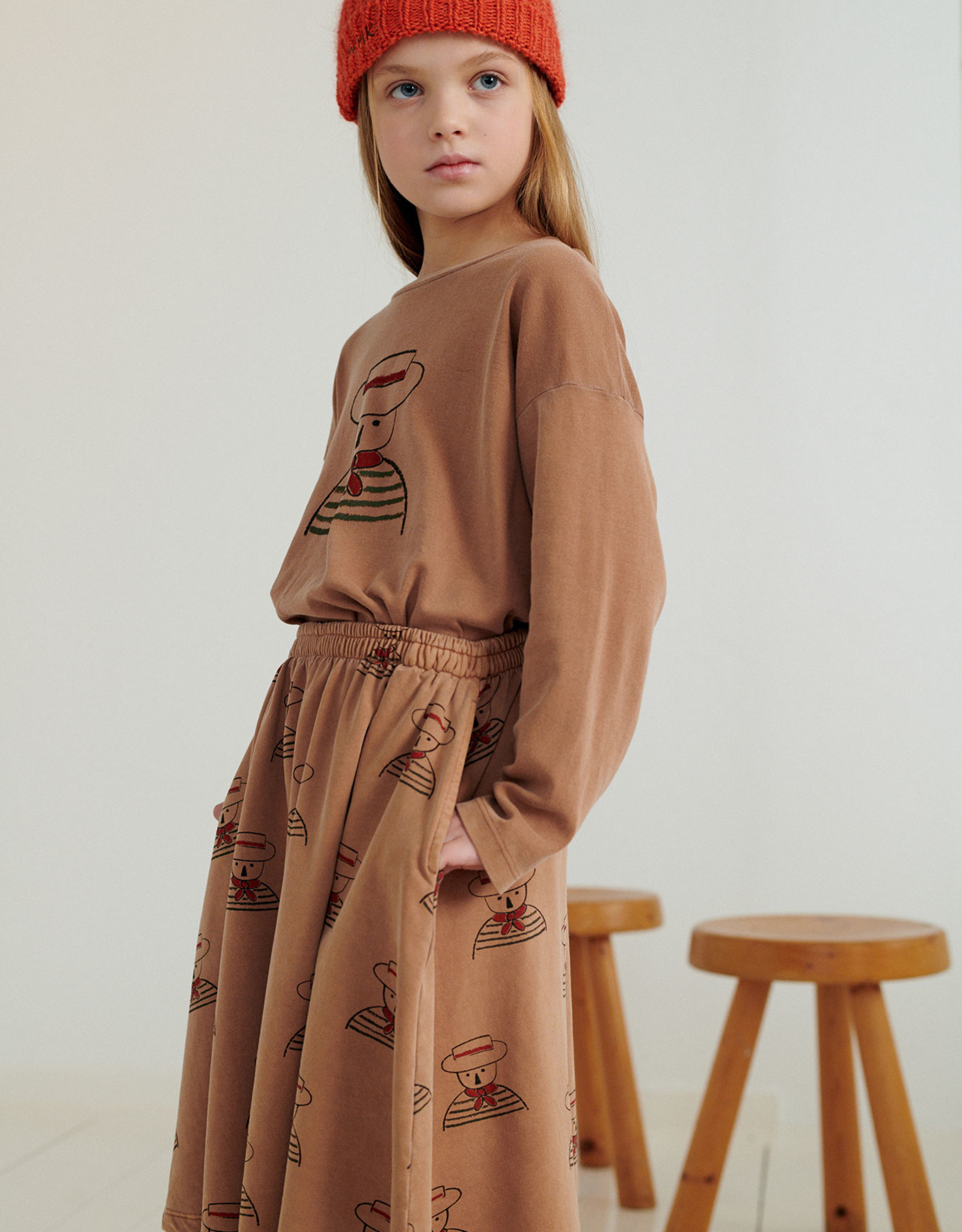 Weekend House Kids Gondolier Skirt Camel