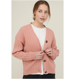 Basic apparel Line Cardigan Pink