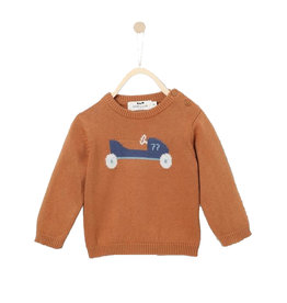 Pull Intarsi Knit Brown