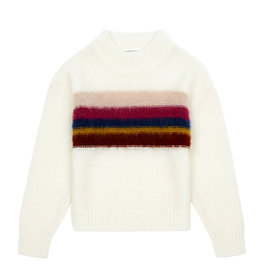 Rainbow Knit white