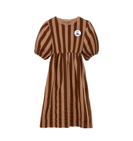 Gondolier Dress Brown Stripe