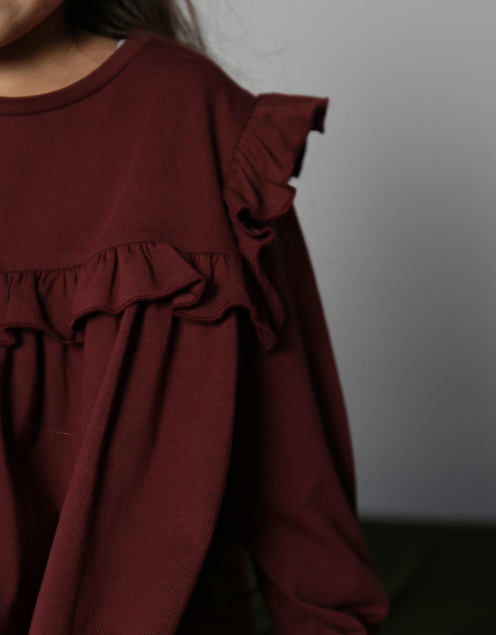 Olivia dress carbon red