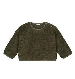 Daily Brat Teddy Sweater Green