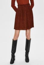 Kinsley Plisse Skirt Brick